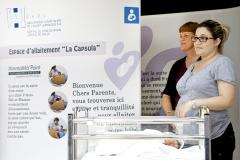 Nyon, GHOL, Groupe Hospitalier de l'Ouest Lémanique, Vendredi 19 août 2014, Inauguration d'un espace, capsule d'allaitement, Photos Céline Reuille